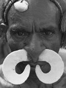 Asmat man with big septum